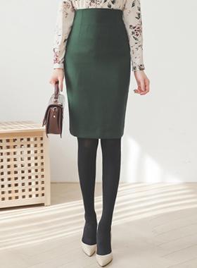 基本腰头H型中长款裙
