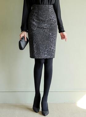 Dusky豹纹弹力裙子