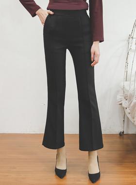 现代基本针褶拉丝宽松长裤