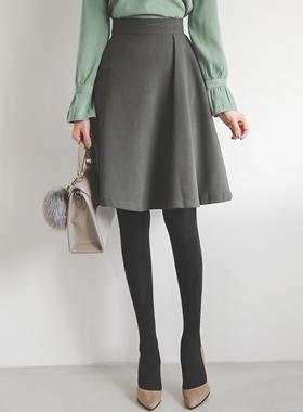 冬季侧捏波组/喇叭裙裙子
