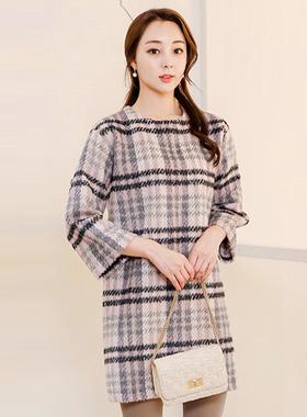 爱Bambi羊毛格衣衣裙