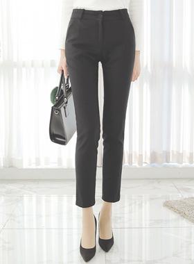 现代基本鸵鸟拉丝宽松长裤