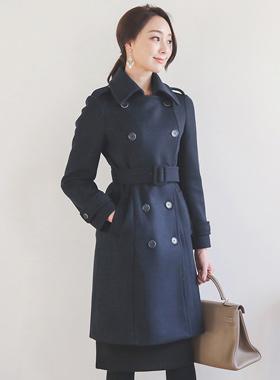 复古/古典双排扣风衣羊毛大衣