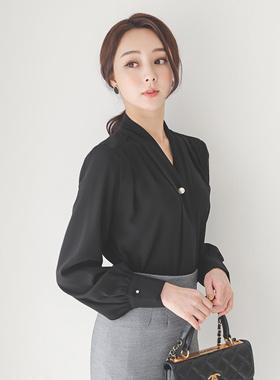 复古/古典珍珠胸针领带女衬衫