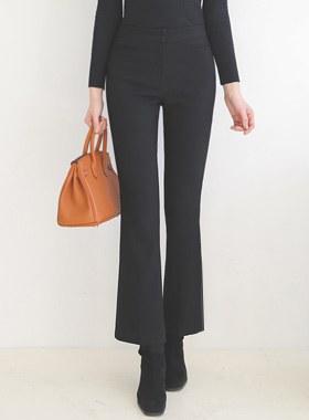 基本的 修身 滚边口袋 靴型裤 宽松长裤