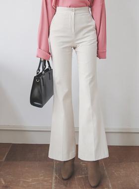 灯芯绒靴型裤短裤