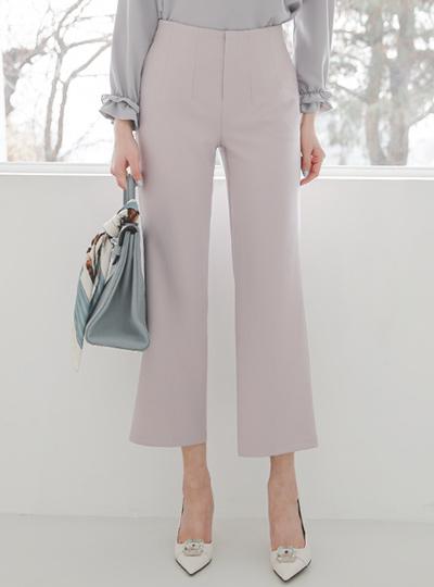 细褶 后侧松紧带 宽 弹力 宽松长裤