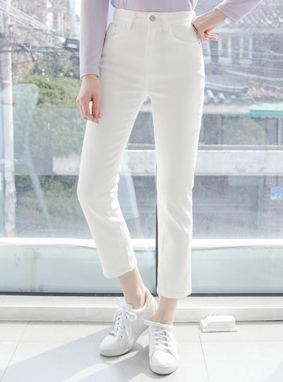 舒服 简单 一字型 10分 牛仔棉 裤子