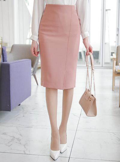 斜线 开叉 开衩 H字型 高腰裙