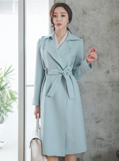 职业女性风格双排扣雨衣(spring)