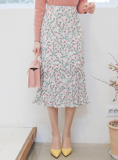 Sprinkle花去皱纹长裙