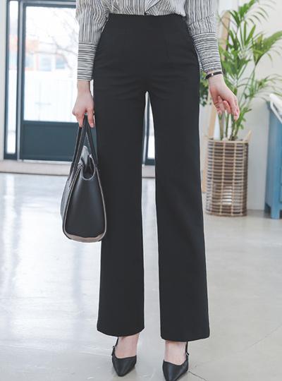 高 细褶 不间断 宽 宽松长裤