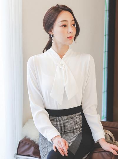天然 珍珠 围巾 罩衫(spring)
