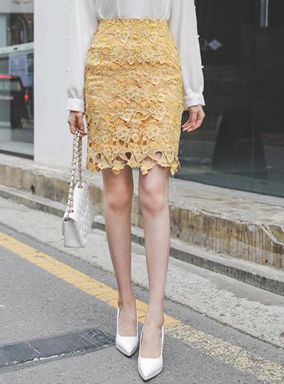 樱桃 化学花边 H字型 裙子