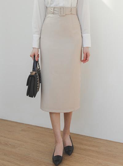 春季 束带 H字型 基本 长款 裙子