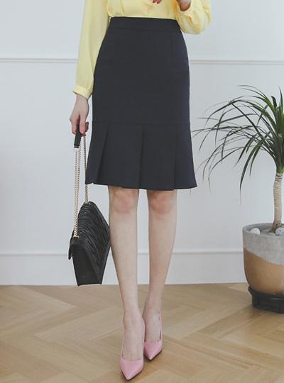 古典 褶边 H字型 弹力 裙子