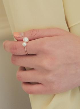 双珍珠戒指