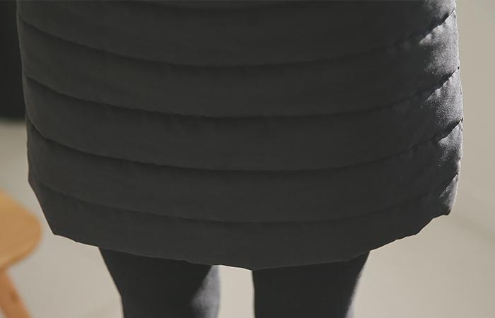 软垫裙加绒打底裤