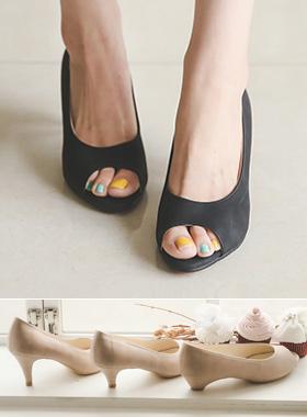 基本鱼嘴鞋浅口式鞋