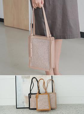 方形 네트배색 手提包兼挎包