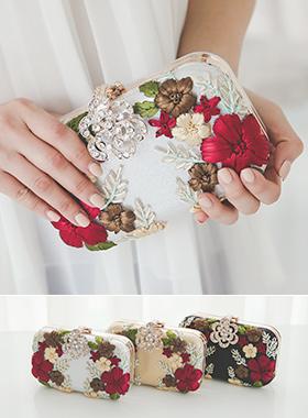 花卉装饰珍珠(无带)包邮
