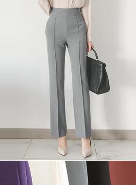 Glam针尖线高宽松长裤