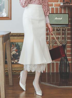 雅雅美人鱼蕾丝裙子