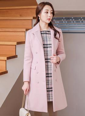 基本的双尾泰勒羊毛呢子大衣
