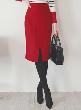 关键点面部颜色H线条狭缝裙子