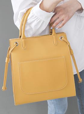 方形 大口袋 点缀 手提包