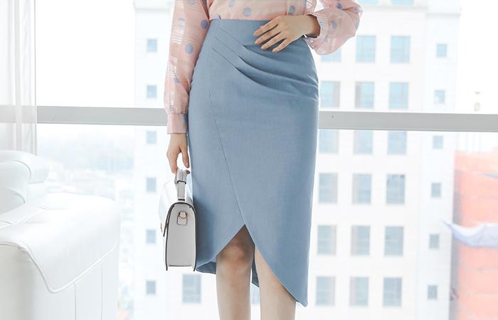 不规则 郁金香 细褶皱 H字型 裙子