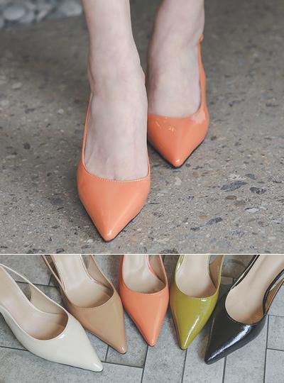 漆皮 春季 颜色 露跟高跟鞋