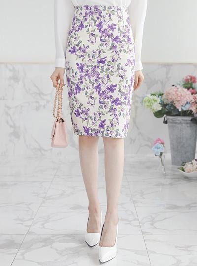 雏菊H字型棉弹力裙子