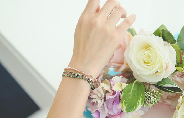 颜色母珍珠珠手链分层