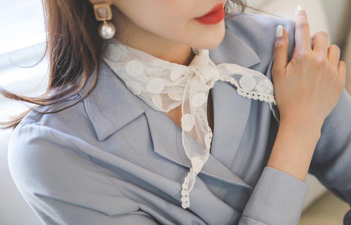 圆点&花纹 三角形 围巾