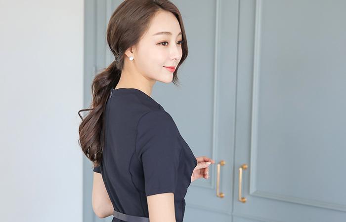 束腰连衣裙(短袖)Formal Wrap Shirring束腰连衣裙(Short Sleeve)