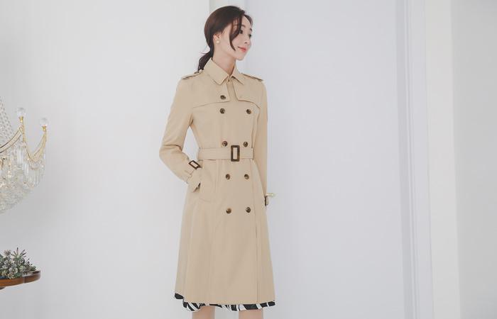 戴安娜长款双排扣雨衣 Ⅱ