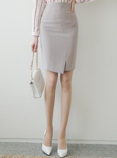 简单斜线开叉H字型裙子(spring)