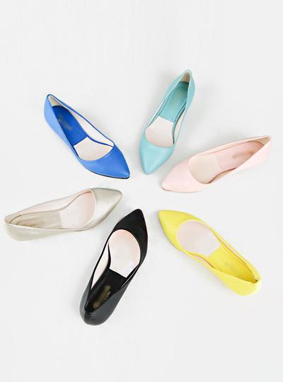粉彩关键点平底鞋