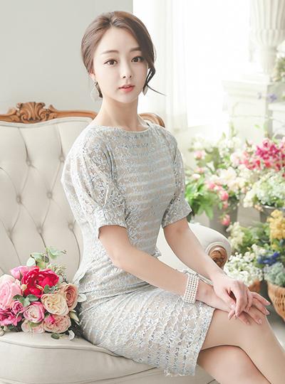 奢华裙Shine蕾丝连衣裙