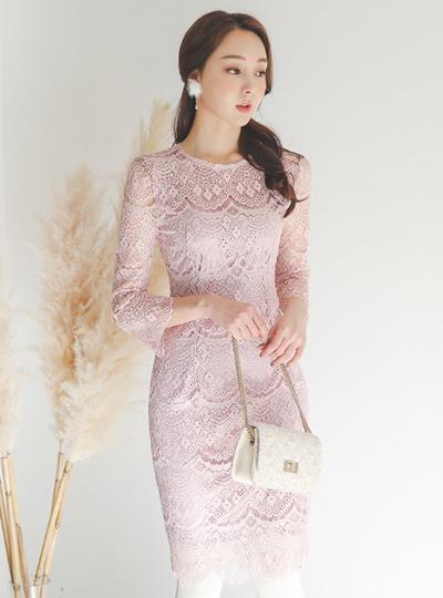 优雅gupper蕾丝连衣裙