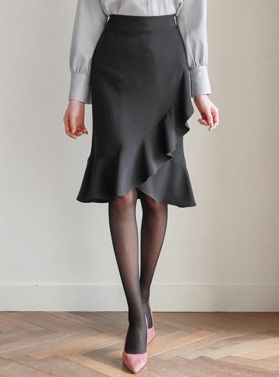 不规则 荷叶边线条 郁金香 裙子