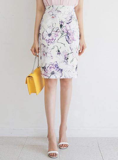 绘图 花纹 修身 裙子