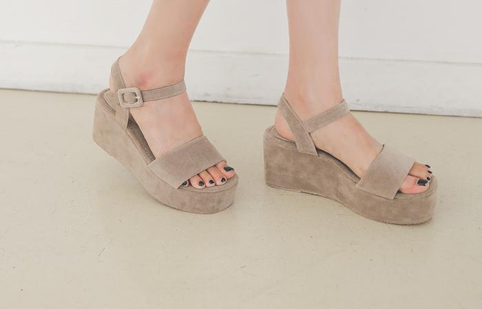 夏天 简单 厚底凉鞋