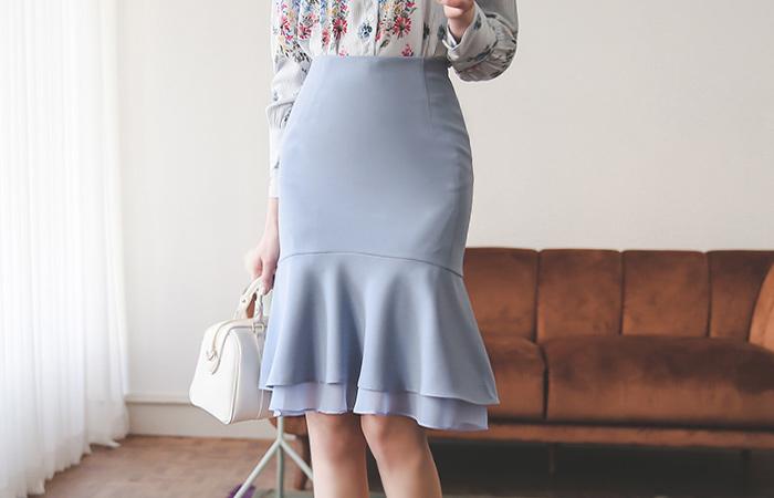 真丝分层美人鱼裙子