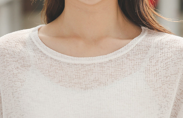 夏天亚麻板坯射线针织衫
