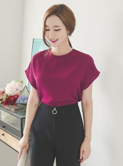 现代青年袖女衬衫