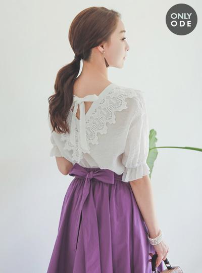 Loco蕾丝棉女衬衫