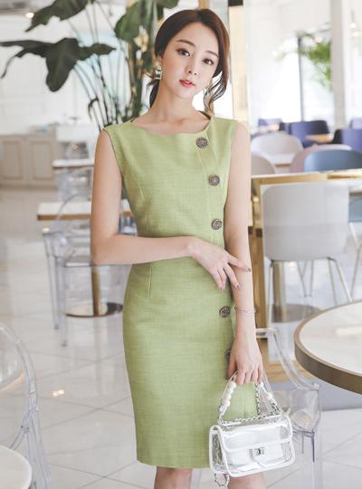 亚麻 亚麻材质 古风 扣子 H字型 连衣裙