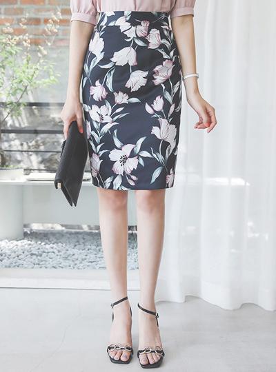 丝滑 花纹 H字型 裙子